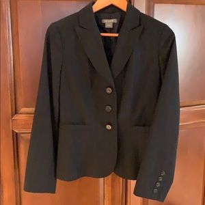 Ann Taylor Navy blue pin striped suit